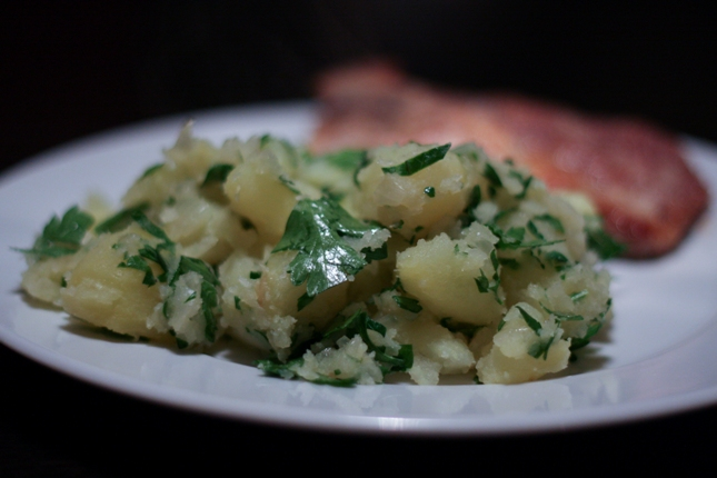 Hungarian Potatoes with Parsley