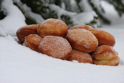 Slovak doughnuts sisky
