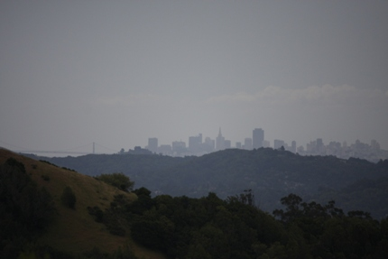 view of san francisco from fairfax