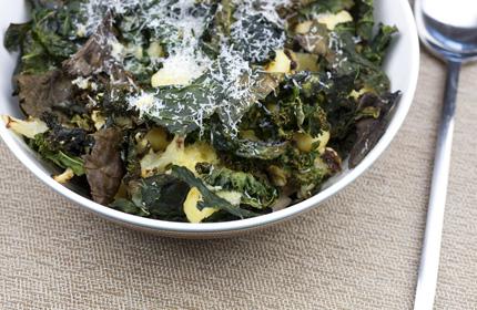 Roasted kale and cauliflower gnocchi