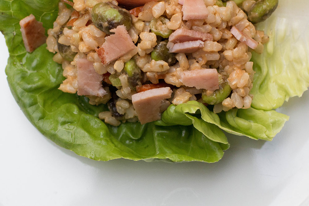 lettuce wraps with ham